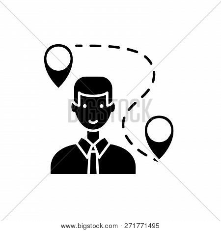 Search For A Solution Black Icon, Vector Sign On Isolated Background. Search For A Solution Concept