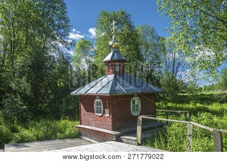 A Holy Source In Honor Of The Tikhvin Icon Of The Mother Of God, Russia.