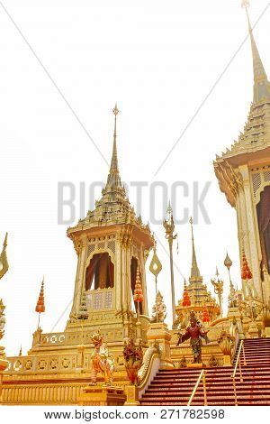 Bangkok, Thailand - November 04, 2017; Some Part Of The Royal Crematorium For The Late King Bhumibol