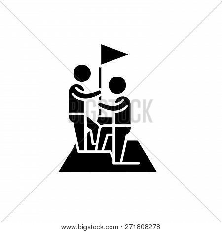 Marketing Competition Black Icon, Vector Sign On Isolated Background. Marketing Competition Concept