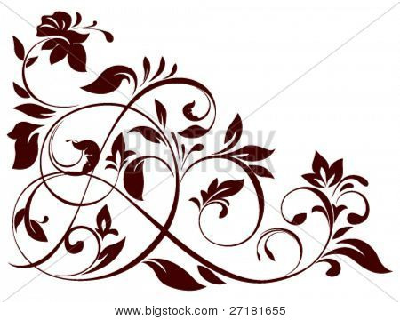 vector illustration of floral ornament