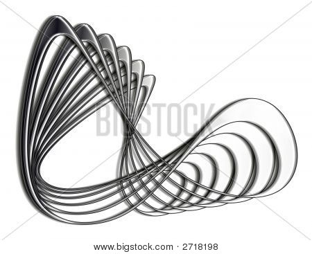 Metallic Curved Abstract Design