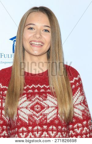LOS ANGELES - DEC 1: Reylynn Caster at the Fulfillment Fund's 45th Annual Holiday Party for kids at CBS Television City on December 1, 2017 in Los Angeles, California
