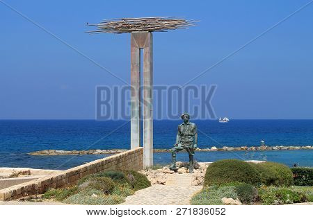 Chlorakas Village, Paphos District, Cyprus, May 16th, 2014: Monument Of Memory And Honour Of The Eok