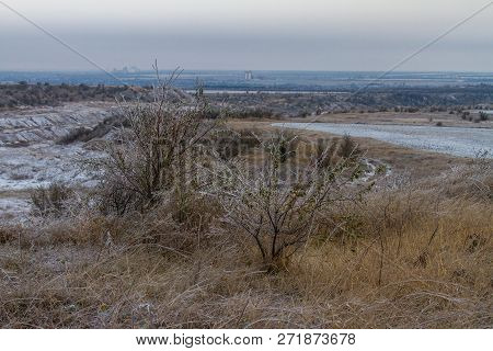 Tavrian Steppe Covered With Ice.