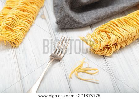 Noodles With Fork