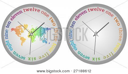 Abstract vector concept of modern clock