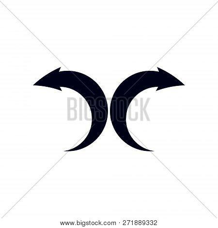 Business Financial Trend, Vector Upward Arrow. Corporate Development Logo Isolated On  White Backgro