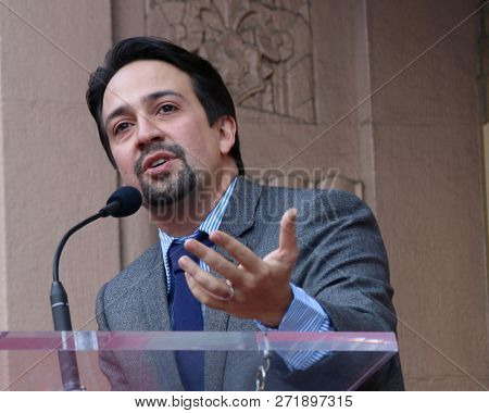 LOS ANGELES - NOV 30:  Lin-Manuel Miranda at the Lin-Manuel Miranda Star Ceremony on the Hollywood Walk of Fame on November 30, 2018 in Los Angeles, CA