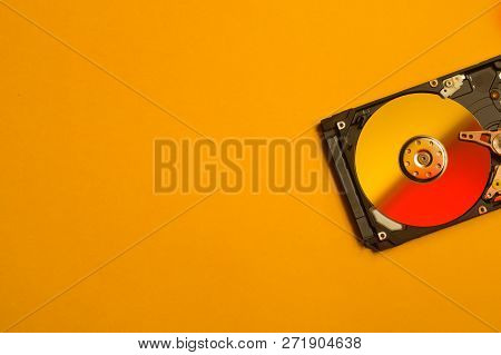 Colorful Hdd. Open Hard Disk Drive. The Concept Of Data Storage. Data Array. Hard Drive From The Com