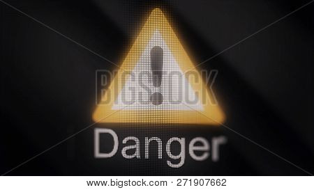 Animation Of Danger Sign Triangle. Warning Danger. Danger Triangle Sign