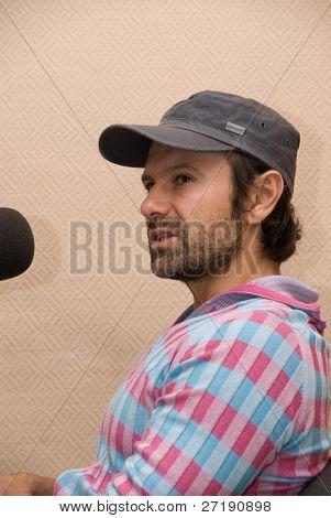 BARNAUL, RUSSIA - SEPTEMBER 27: Svyatoslav Vacarchuk vocal of known ukrainian group