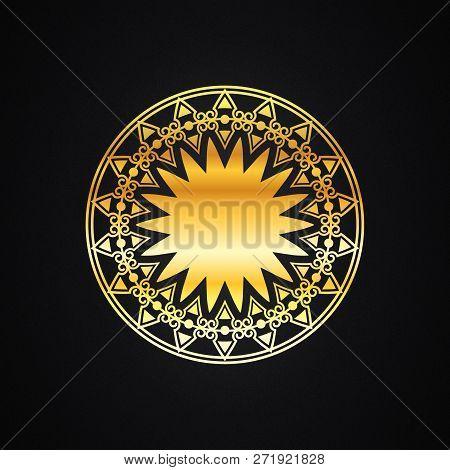 Golden Vintage Ornament, Baroque Ornament, Scroll Ornament, Engraving Border Ornament, Floral Orname