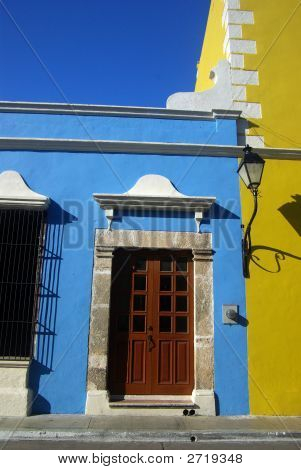 Blue Building In Mexico