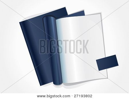 Vector illustration of blank page of a magazine