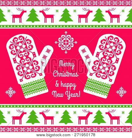 Embroidered Mittens Background