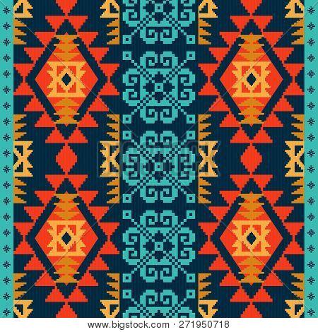Navajo Style Ethnic Pattern