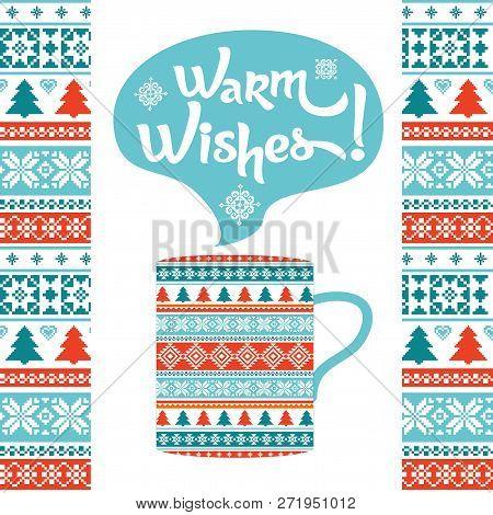 Warm Wishes Winter Background