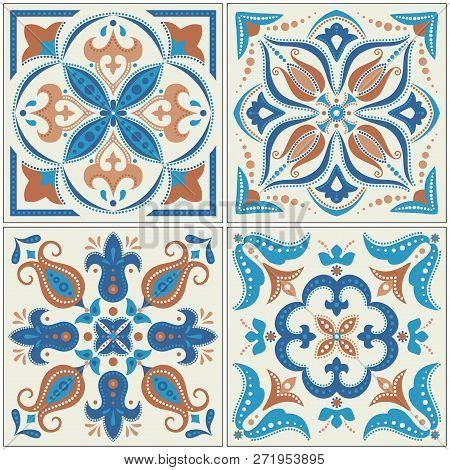 Set Of Ornamental Tiles