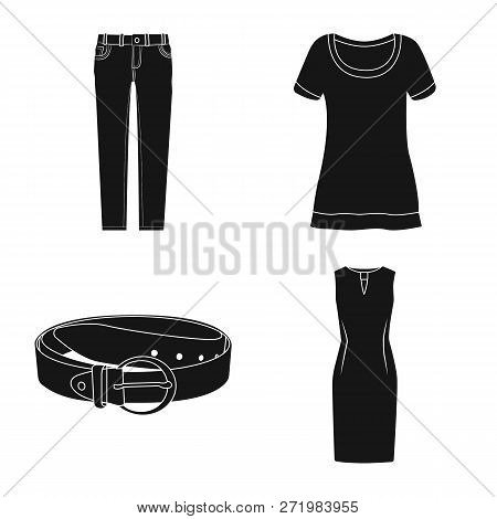 Vector Illustration Of Woman And Clothing Logo. Collection Of Woman And Wear Stock Vector Illustrati