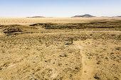The gobi desert near Kries se Rus Campsite in Namibia. poster
