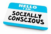 Socially Conscious Name Tag Aware Woke 3d Illustration poster