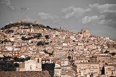 historic architecture of Agira, Sicily poster