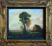"""""""old"""" painting in golden frame poster"""