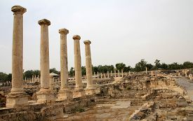 Ruin In Beit Shean National Park In Israel
