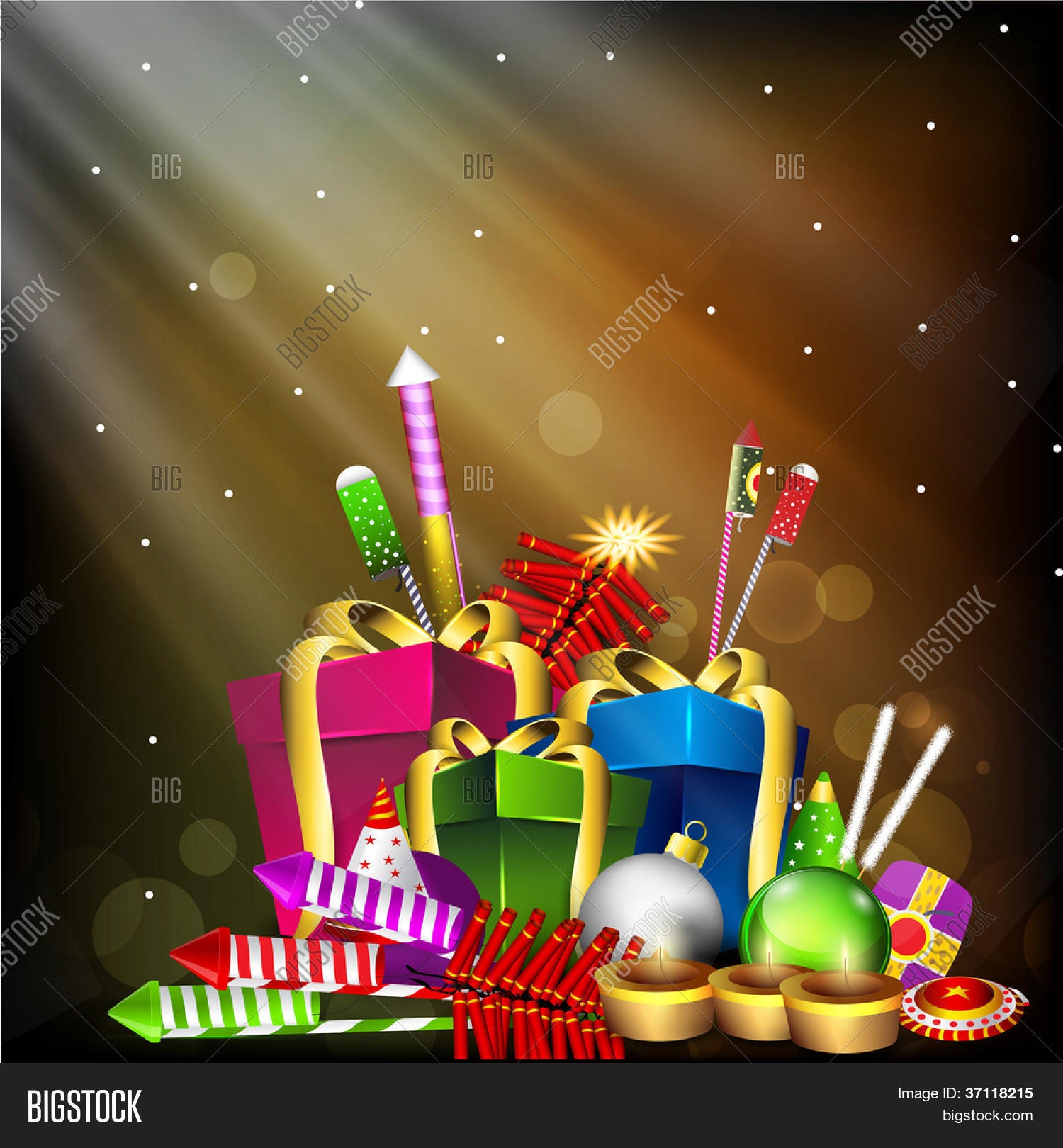 Greeting Card Diwali Vector Photo Free Trial Bigstock