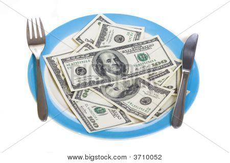 Few Hundred Dollars On Plate