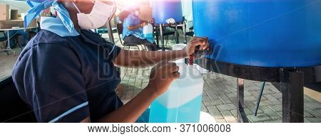 Small scale African enterprise manufacturing liquid soap