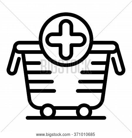 Supply Cart Icon. Outline Supply Cart Vector Icon For Web Design Isolated On White Background
