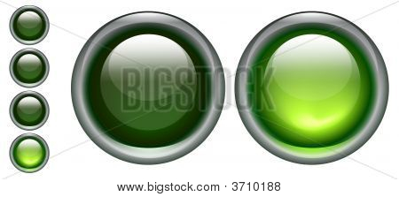 Green On Off Buttons