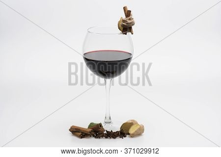Home Bar And Wine Tasting Concept. Cabernet Or Merlot Wine