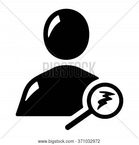 People Search Or Friend Finder Magnifying Glass Line Art Vector Icon For Apps And Websites