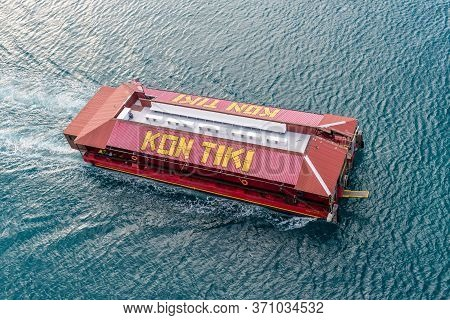 Charlotte Amalie, St.thomas, Usvi - May 1, 2019: Top View Of The Kon Tiki Ii Party Boat (harbour & T