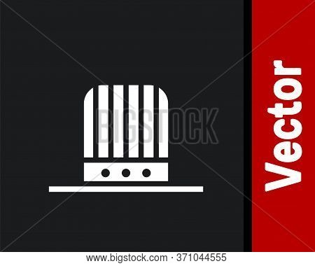 White Patriotic American Top Hat Icon Isolated On Black Background. Uncle Sam Hat. American Hat Inde