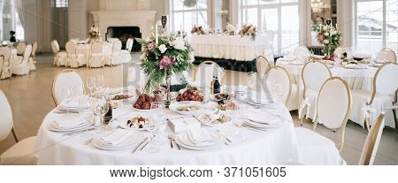 Beautiful Decoration Of The Wedding Banquet Hall