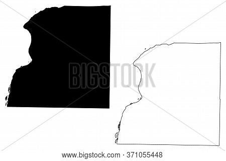 Hancock County, Illinois (u.s. County, United States Of America, Usa, U.s., Us) Map Vector Illustrat
