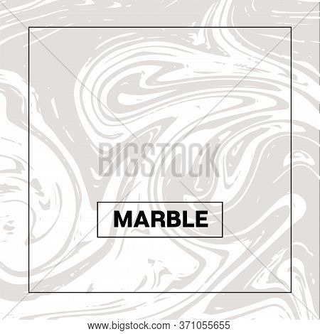 Gray Marble Texture, Vector Square Ink Wash Background. Fluid Paint Suminagashi Trendy Pattern For I