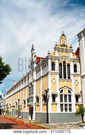 Palacio Bolivar In Casco Viejo, The Historic District Of Panama City In Central America
