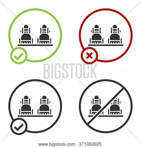 Black Snowboard Icon Isolated On White Background. Snowboarding Board Icon. Extreme Sport. Sport Equ