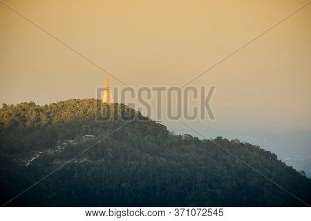 Beautiful Landscape Of Phu Tub Berk Temple From Phu Tub Berk View Point At Sunset, Phetchabun Provin