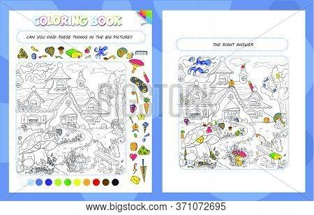 Coloring Book Game Gnome