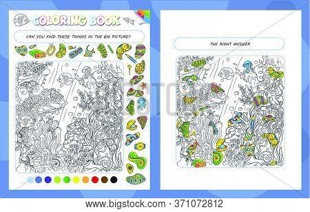 Coloring Book Game Sea Bottom