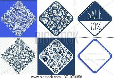 Set Of Abstract Sales  Rhombus