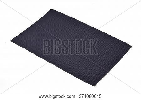 Blue Cotton Placemat Isolated On White Background.
