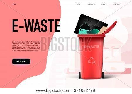 Environmental Protection. Trash Management, E Waste Illstration