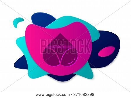 Color Womens Booty In A Heart Shape With Panties On It Icon Isolated On White Background. Erotic Lin